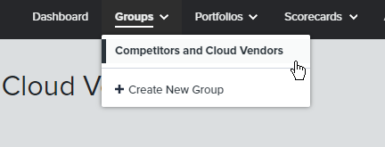 The newly created group lives under the Groups drop-down