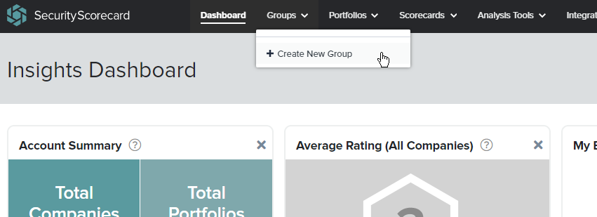 Creating new Group from the toolbar